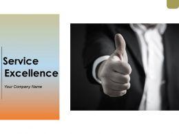 Service Excellence Powerpoint Presentation Slides