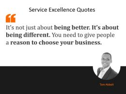 Service Excellence Quotes Powerpoint Slide Influencers