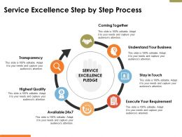Service Excellence Step By Step Process Ppt Powerpoint Presentation File Model