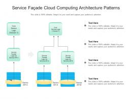 Service Facade Cloud Computing Architecture Patterns Ppt Powerpoint Slide