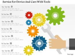 Service For Device And Cars With Tools Flat Powerpoint Design