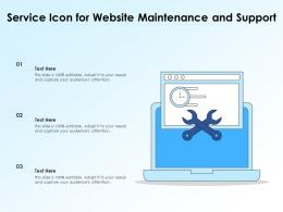 Service Icon For Website Maintenance And Support