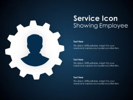 Service Icon Showing Employee