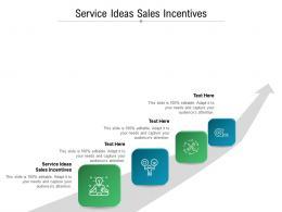Service Ideas Sales Incentives Ppt Powerpoint Presentation Portfolio Deck Cpb