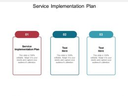 Service Implementation Plan Ppt Powerpoint Presentation Outline Guide Cpb
