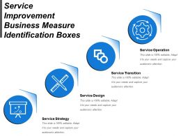 Service Improvement Business Measure Identification Boxes