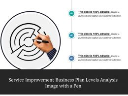 Service Improvement Business Plan Levels Analysis Image With A Pen