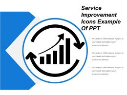 Service Improvement Icons Example Of Ppt