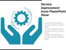 Service Improvement Icons Powerpoint Show