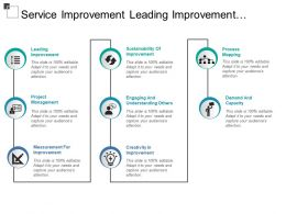 Service Improvement Leading Improvement Sustainability Creativity