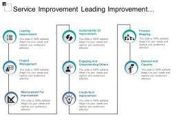Service Improvement Leading Improvement Sustainability Creativity