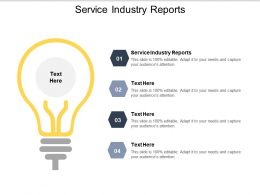 Service Industry Reports Ppt Powerpoint Presentation Gallery Background Designs Cpb