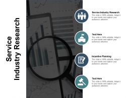 Service Industry Research Ppt Powerpoint Presentation Pictures Clipart Images Cpb