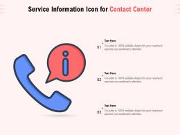 Service Information Icon For Contact Center