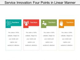 Service Innovation Four Points In Linear Manner