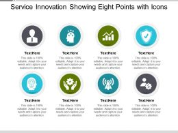Service Innovation Showing Eight Points With Icons