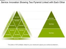 Service Innovation Showing Two Pyramid Linked With Each Other