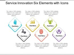 Service Innovation Six Elements With Icons