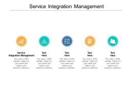 Service Integration Management Ppt Powerpoint Presentation Infographics Template Cpb