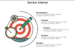 Service Internet Ppt Powerpoint Presentation Professional Design Ideas Cpb