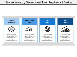 Service Inventory Development Tools Requirement Design Modeling Development