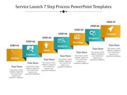 Service Launch 7 Step Process Powerpoint Templates