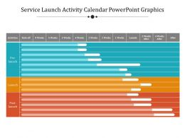 Service Launch Activity Calendar Powerpoint Graphics