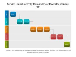 Service Launch Activity Plan And Flow Powerpoint Guide