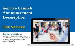 Service Launch Announcement Description Powerpoint Layout