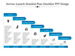 service_launch_detailed_plan_checklist_ppt_design_Slide01