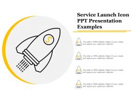 Service Launch Icon Ppt Presentation Examples