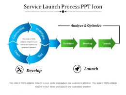 Service Launch Process Ppt Icon
