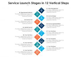 Service Launch Stages In 12 Vertical Steps