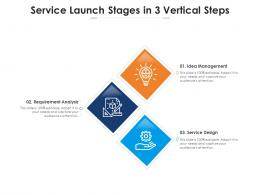 Service Launch Stages In 3 Vertical Steps