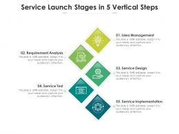 Service Launch Stages In 5 Vertical Steps