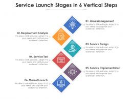 Service Launch Stages In 6 Vertical Steps