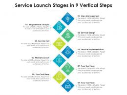 Service Launch Stages In 9 Vertical Steps