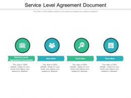 Service Level Agreement Document Ppt Powerpoint Styles Portfolio Cpb