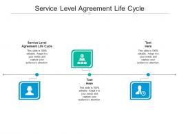 Service Level Agreement Life Cycle Ppt Powerpoint Presentation Gallery Graphics Design Cpb