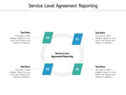 Service Level Agreement Reporting Ppt Powerpoint Presentation Summary Layout Ideas Cpb