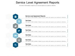 Service Level Agreement Reports Ppt Powerpoint Presentation Pictures Rules Cpb