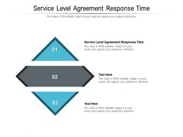 Service Level Agreement Response Time Ppt Powerpoint Presentation Ideas Slides Cpb