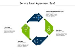Service Level Agreement Saas Ppt Powerpoint Presentation Model Sample Cpb