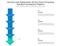 Service Level Agreements SLAs Cloud Computing Standard Architecture Patterns Ppt Diagram