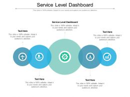 Service Level Dashboard Ppt Powerpoint Presentation Pictures Gridlines Cpb