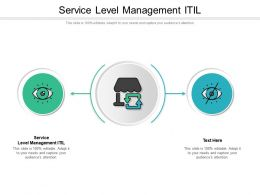 Service Level Management Itil Ppt Powerpoint Presentation Ideas Format Cpb
