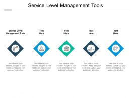 Service Level Management Tools Ppt Powerpoint Presentation Infographics Slides Cpb
