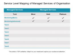 Service Level Mapping Of Managed Services Of Organisation