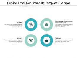 Service Level Requirements Template Example Ppt Background Designs Cpb