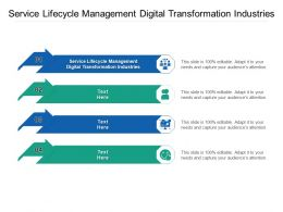 Service Lifecycle Management Digital Transformation Industries Ppt Powerpoint Presentation Cpb